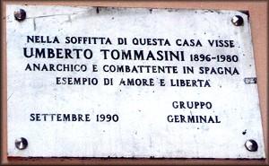 Placa a Umberto Tommassini